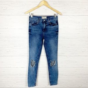 Free People • Busted Knee Skinny Jeans